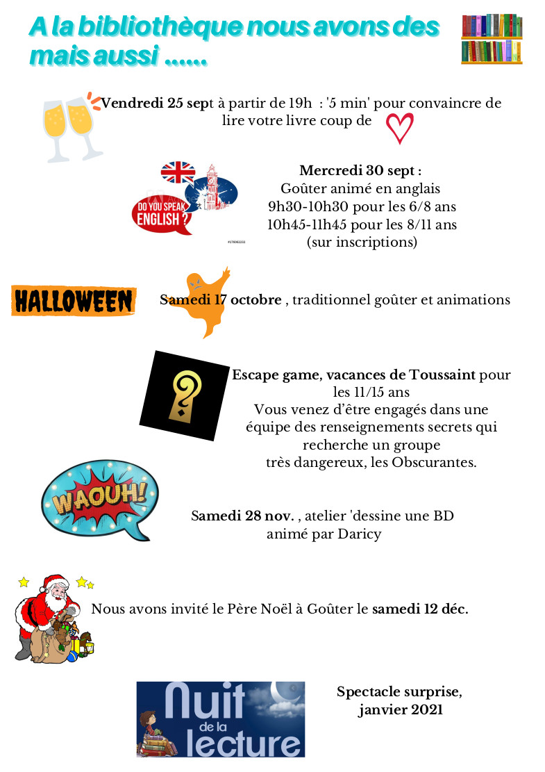 Flyer animations biblio 2020