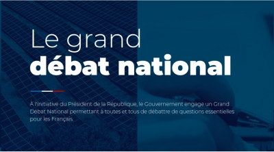 Le grand débat national - Du 15 janvier au 15 mars 2019