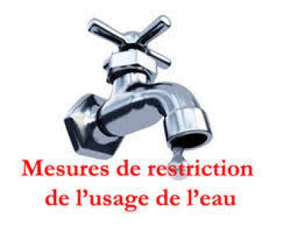 Restrictions des usages de l'eau, mesures maintenues